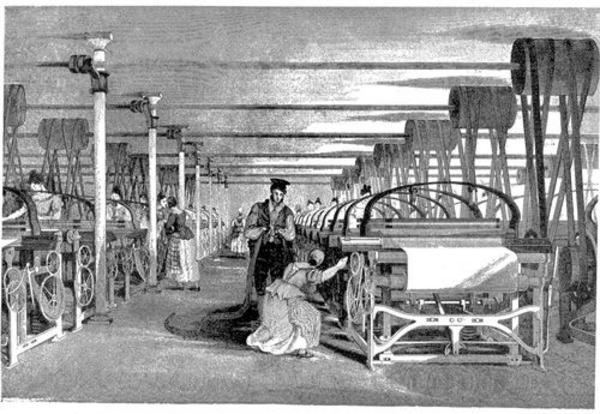 Powerloom weaving in 1835 wiki